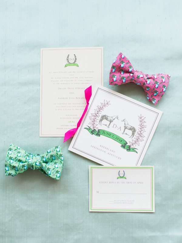 Kentucky derby themed wedding stationary