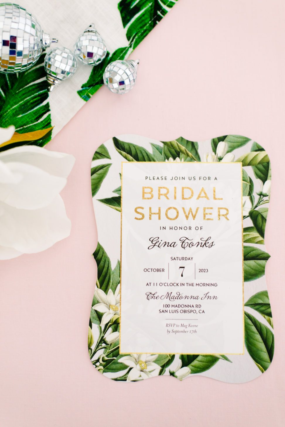 tropical inspired bridal shower invitation from shutterfly