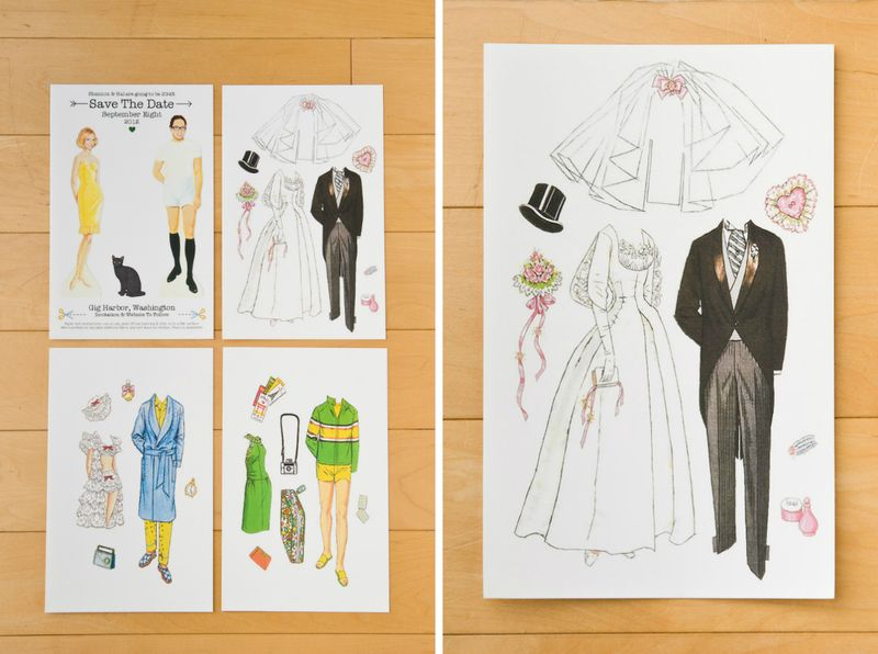 bride and groom paper dolls