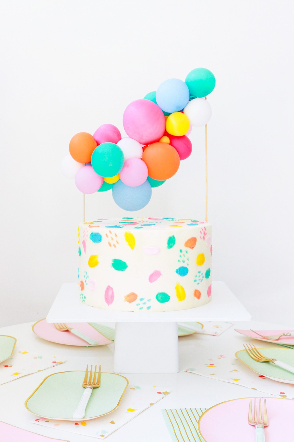 Colorful Mini Balloon Installment Cake Topper