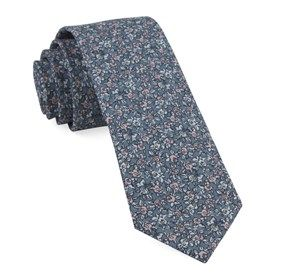 busy floral print tie
