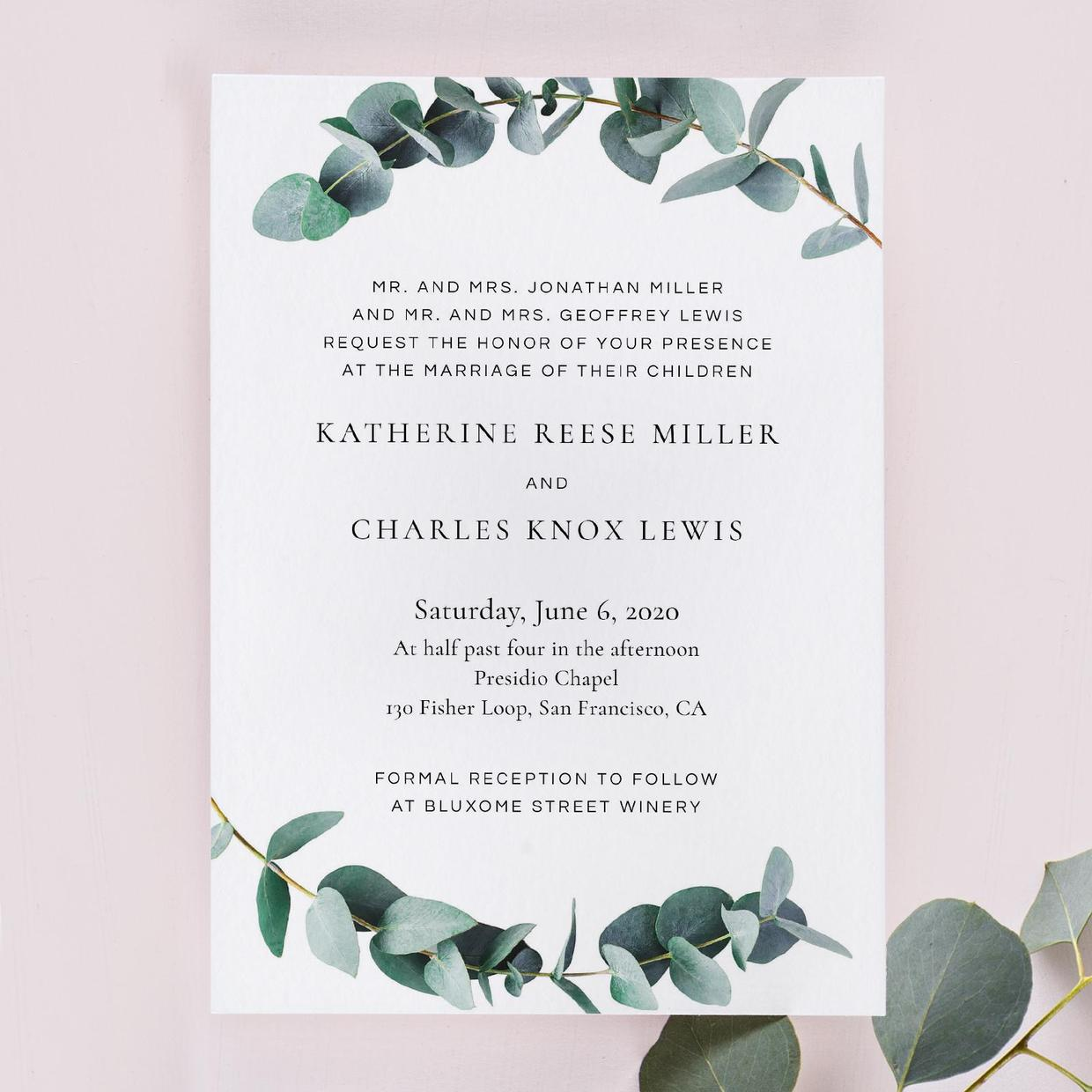 The Galata Vine Wedding Invitation From Zola
