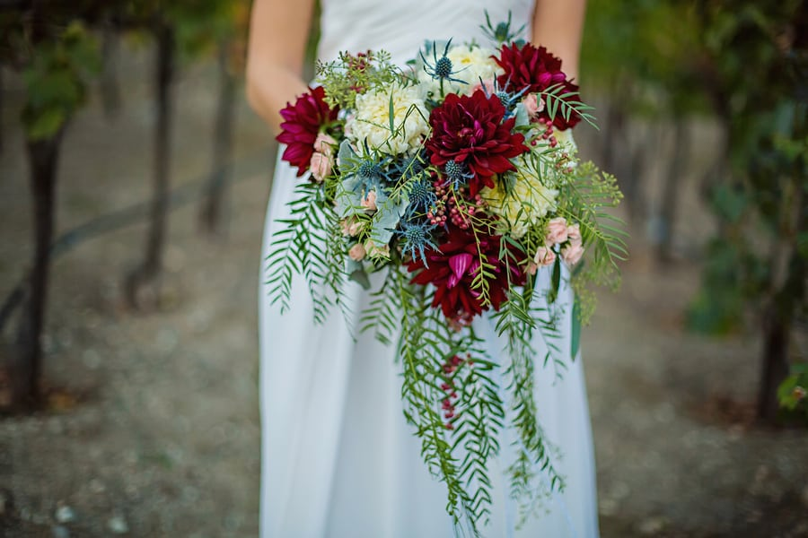 bridal cascade bouquet