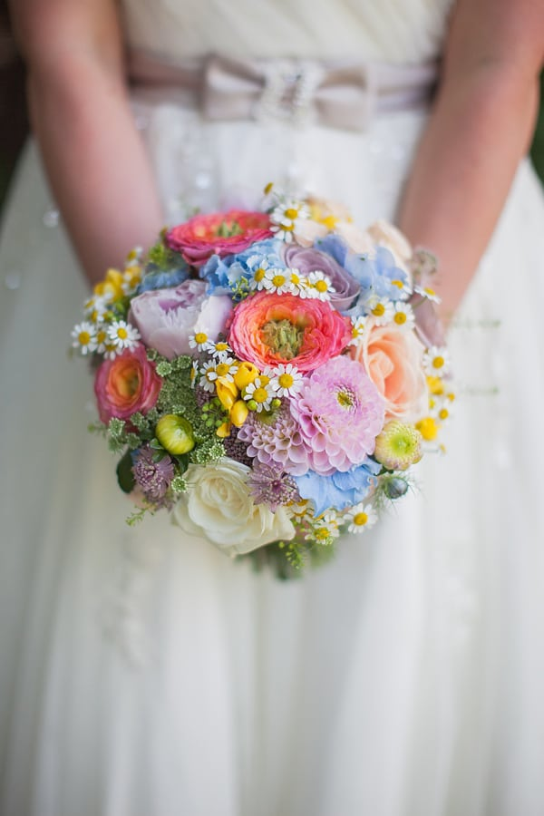bright, colorful, and sweet round bouquet