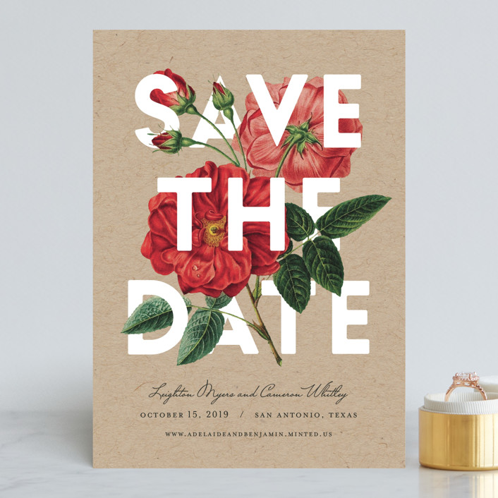Daring Date save the date from Minted