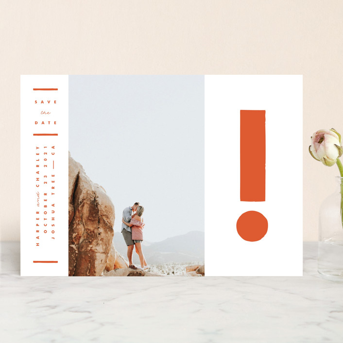 Photo of Exclamation save the date from Minted