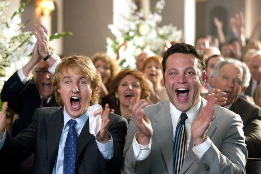 wedding crashers vince vaughn owen wilson clapping gleefully
