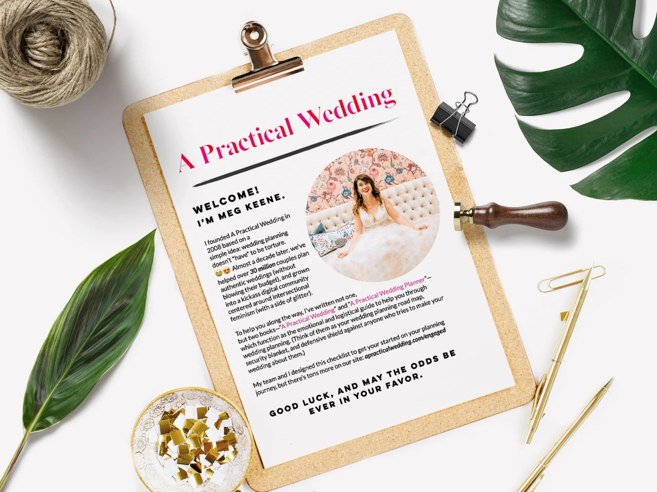 APW's free wedding planning checklist