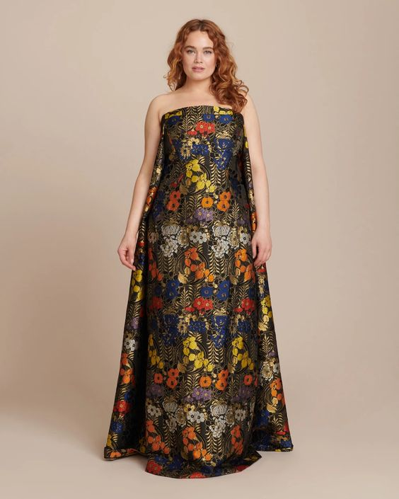 A colorful fall seasonal gown.