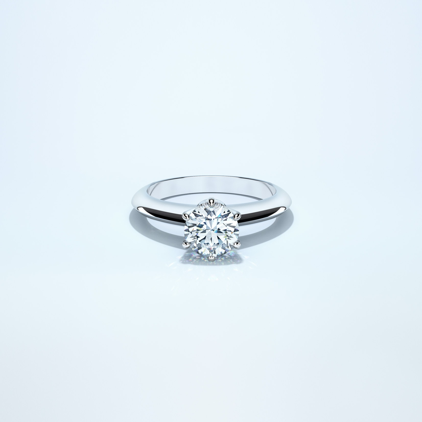 A classic solitaire platinum ring.