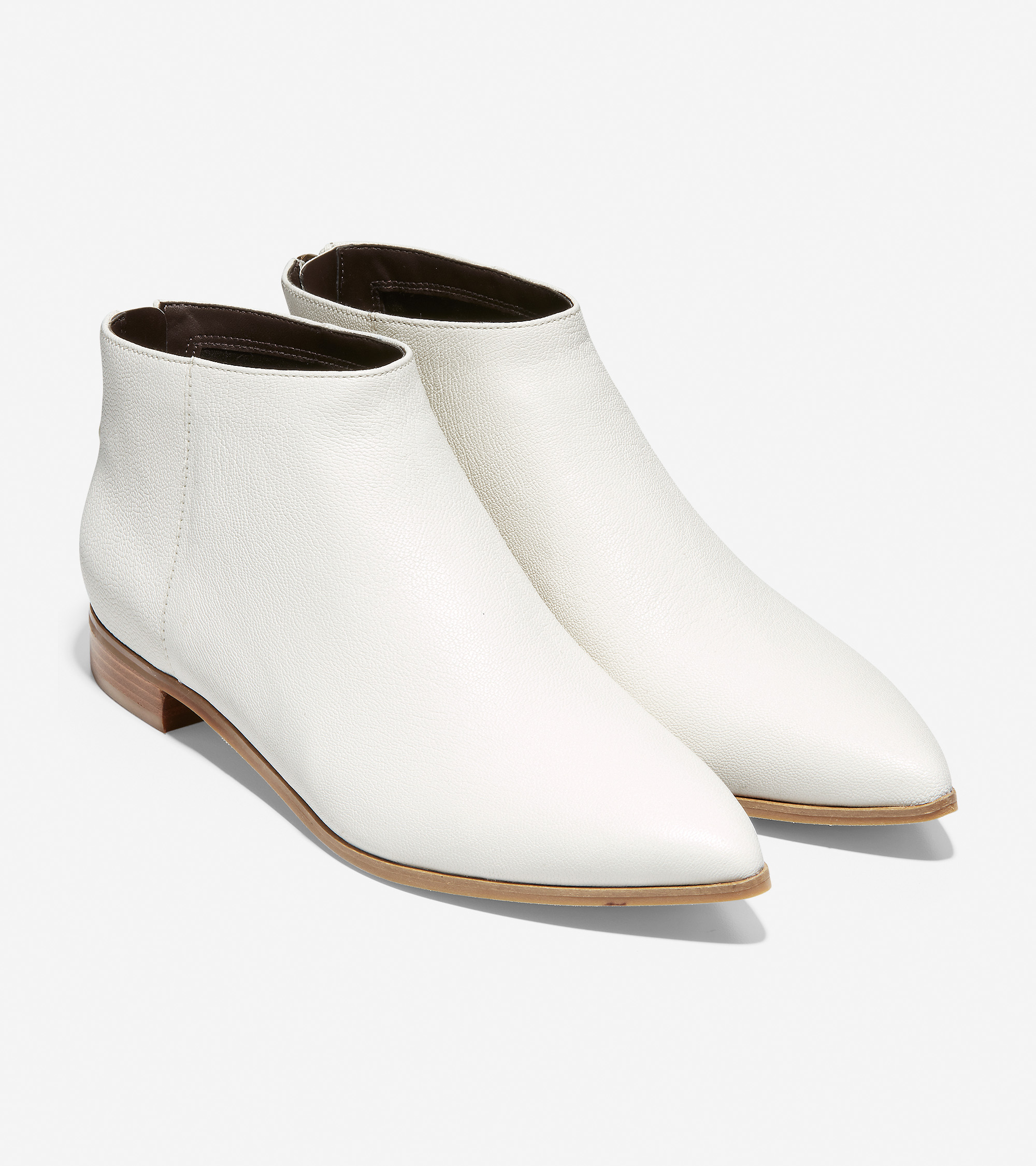 Casually cool white booties.