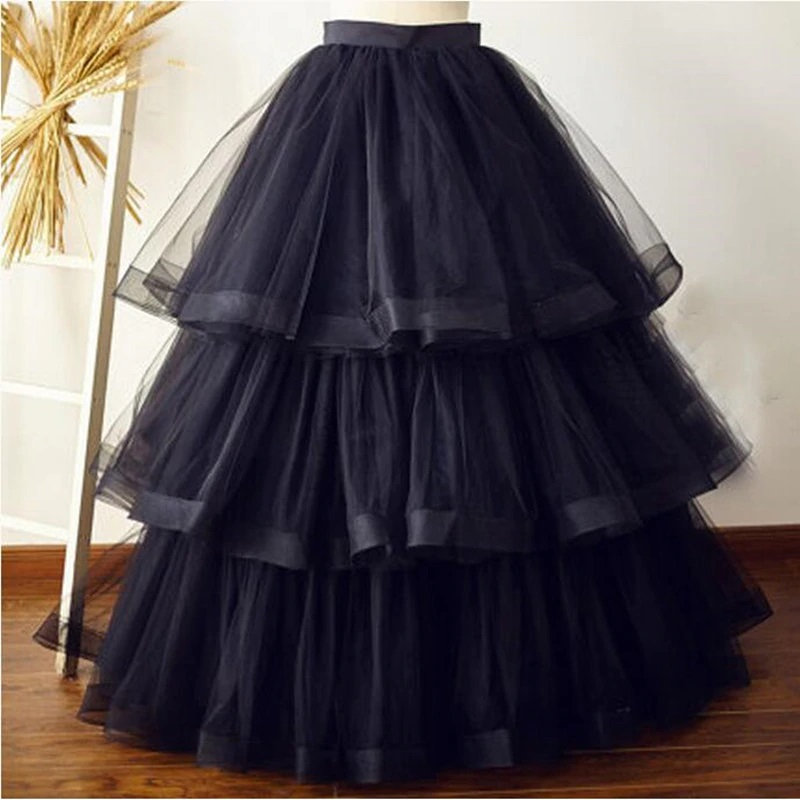 Tiered pleated skirt.