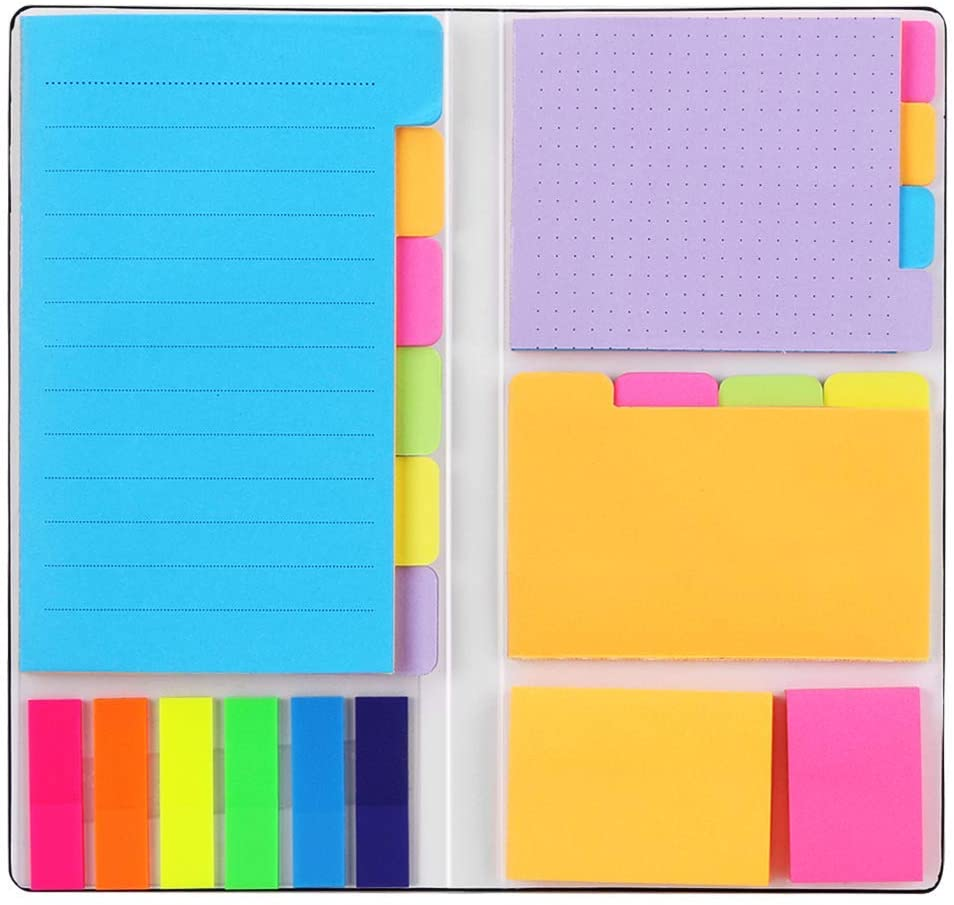 multi color booklet of assorted sticky notes