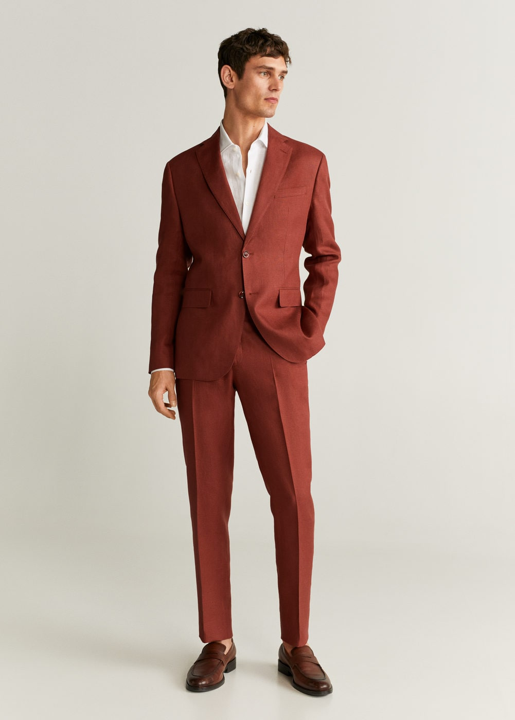 2020 fall wedding ideas include rust orange suits