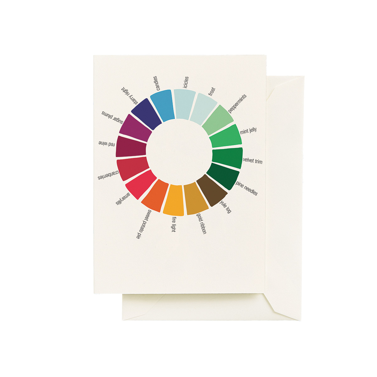 color wheel holiday cards