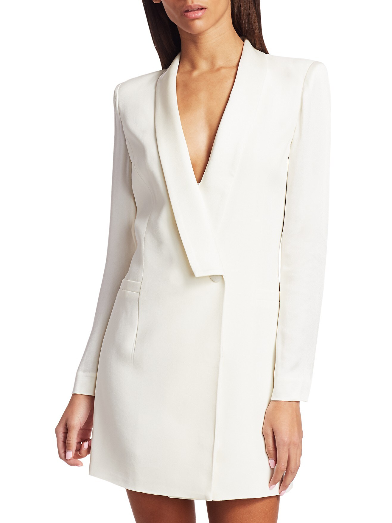 short white suit dress