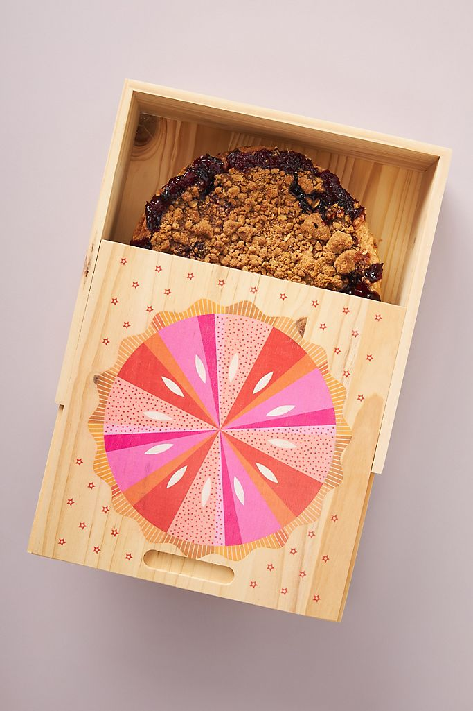 bright wood pie box