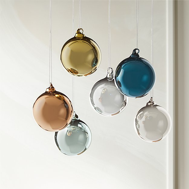 metallic pastel ornaments