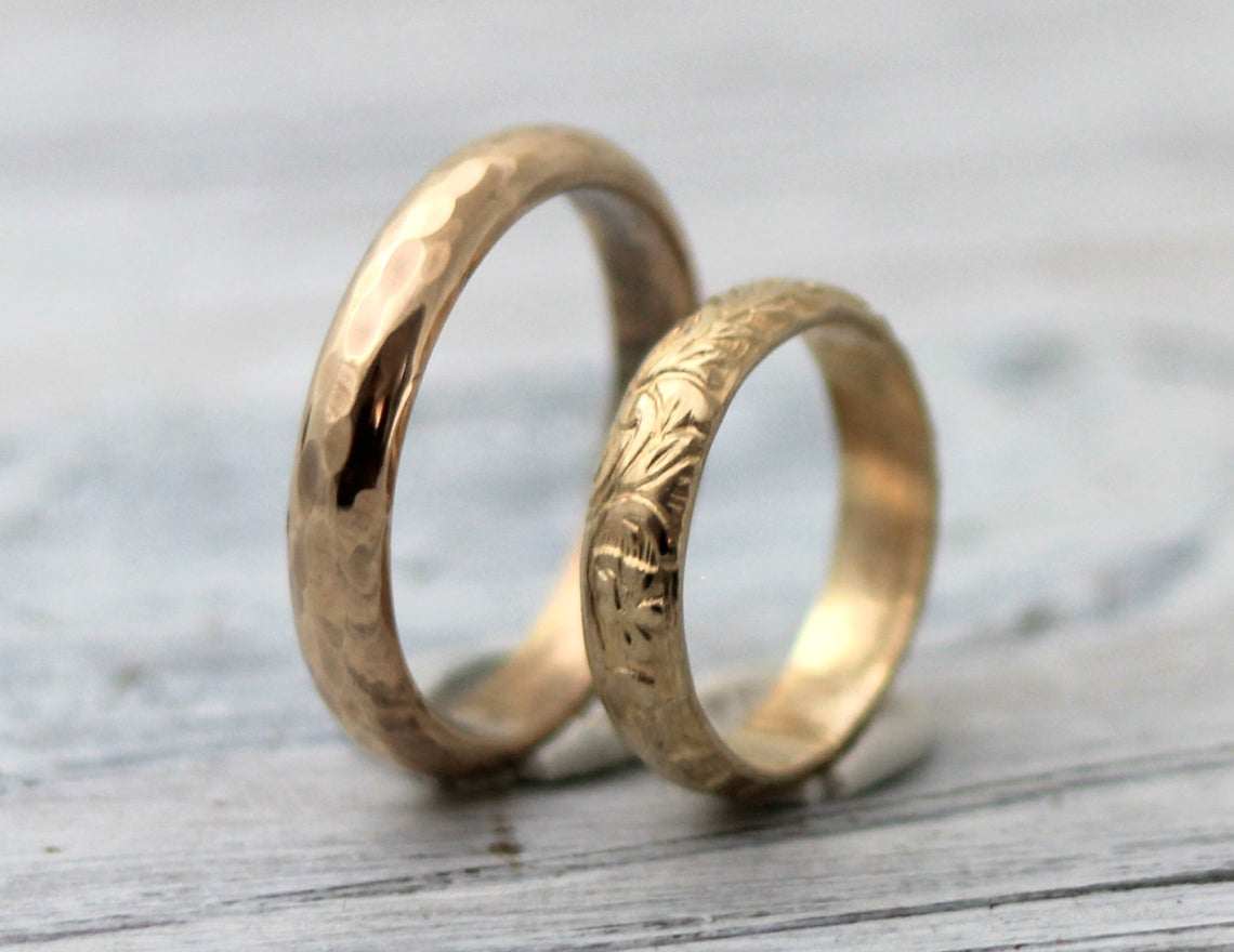 gold couples bands