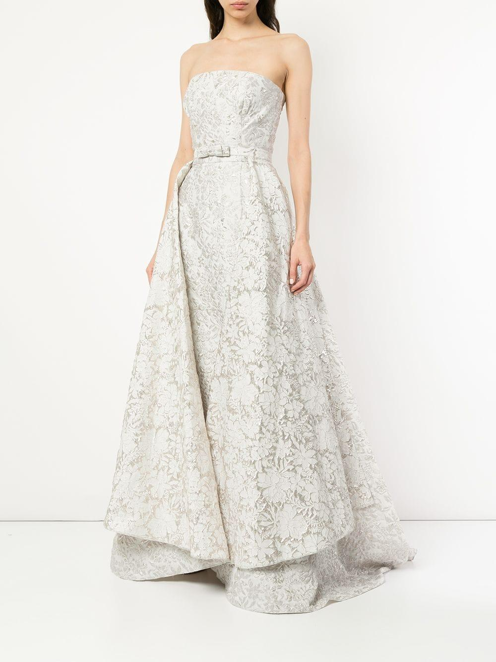 brocade wedding dress