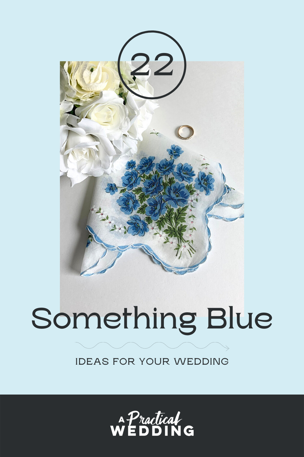 something blue ideas for your wedding graphic with blue handkerchief